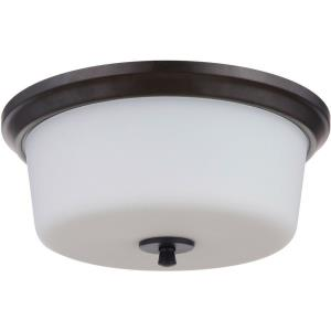 Tyler - Three Light Flush Mount in Transitional Style - 15 inches wide by 6.75 inches high