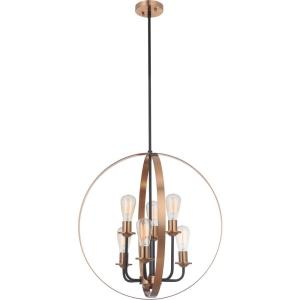 Randolph - Six Light Foyer in Transitional Style - 24 inches wide by 24.75 inches high