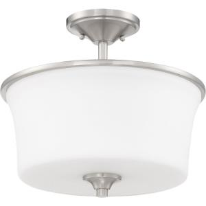 Gwyneth - Two Light Convertible Semi-Flush Mount in Traditional Style - 13 inches wide by 15 inches high