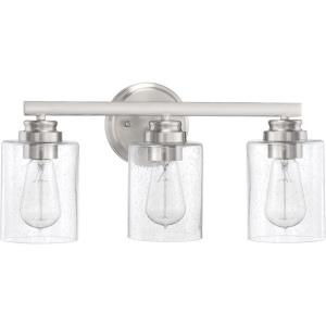 Bolden 3 Light Transitional/Modern & Contemporary Bath Vanity Approved for Damp Locations