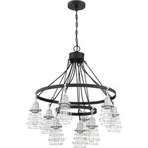 Thatcher - Nine Light Cage Down 2-Tier Chandelier