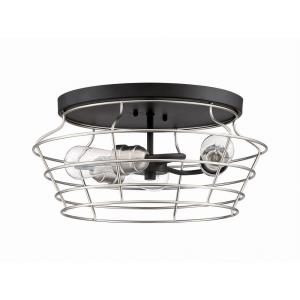 Thatcher - Three Light Cage Flush Mount in Transitional Style - 16.5 inches wide by 8 inches high