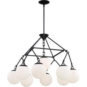Orion - Nine Light Chandelier - 30 inches wide by 22 inches high
