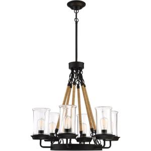 Homestead - Six Light Outdoor Chandelier