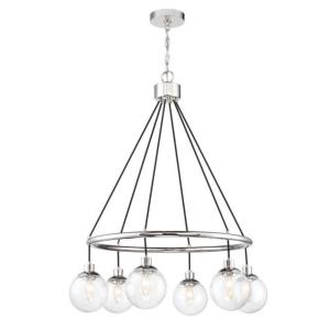 Que - Six Light Chandelier in Transitional Style - 28.5 inches wide by 36 inches high