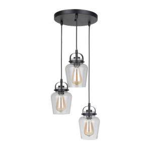 Trystan - Three Light Pendant in Transitional Style - 14.25 inches wide by 8.65 inches high