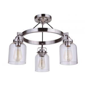 Foxwood - Three Light Semi-Flush Mount