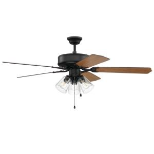 Pro 215 - 52 Inch 5 Blade Ceiling Fan with Light Kit and Pull Chain Control
