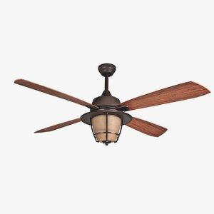 "Morrow Bay - 56"" Ceiling Fan with CFL Bulbs"