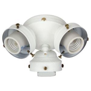 Universal - 6.5 Inch 17W 3 LED Fan Light Fitter