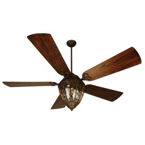 Olivier - 70 Inch Ceiling Fan with Light Kit Hand Scraped Blades