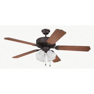 Pro Builder 203 - 52 Inch Ceiling Fan with Light Kit