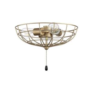Universal - Three Light Cage Bowl Light Kit in Transitional Style - 13.48 inches wide by 4.83 inches high