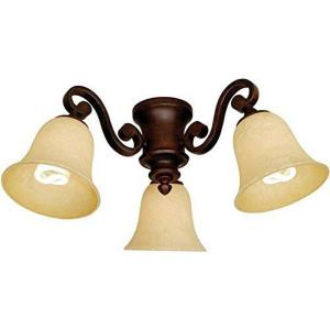 Three Light Ceiling Fan Kit in Traditional Style - 14.5 inches wide by 8.25 inches high