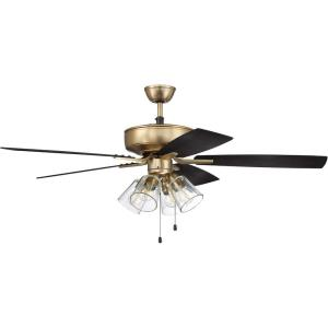 Pro Plus 104 Series - 52 Inch 5 Blade Ceiling Fan with Light Kit