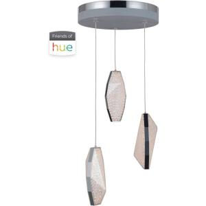 Hue - 81W 3 LED LED Mini Pendant - 11 inches wide by 9 inches high