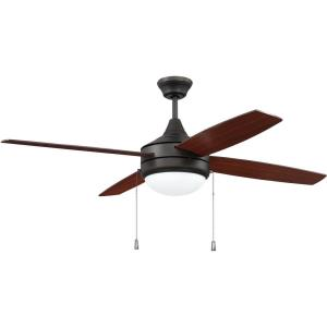 Phaze - 52 Inch 4 Blade Ceiling Fan with Light Kit