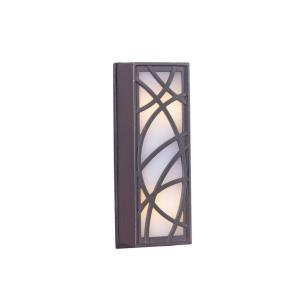 4 Inch LED Outdoor Whimsical Lines Touch Button