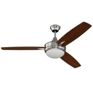 Targas - Ceiling Fan with Light Kit in Contemporary Style - 52 inches wide by 16.73 inches high