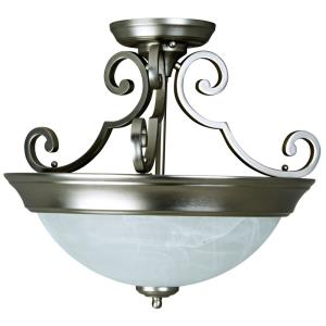 Step Pan - Two Light Semi-Flush Mount - 16.56 inches wide by 14.25 inches high