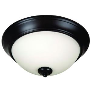 Pro Builder - Three Light Flush Mount - 15 inches wide by 6.5 inches high