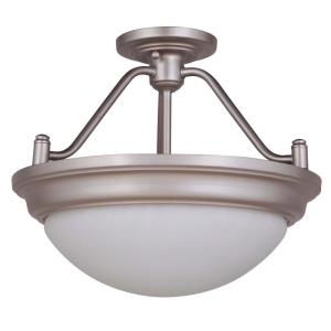 Pro Builder Premium - Two Light Convertible Semi-Flush Mount