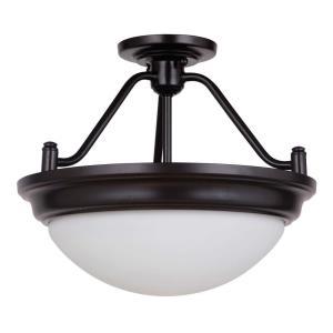 Pro Builder Premium - Two Light Convertible Semi-Flush Mount