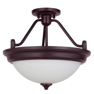 Pro Builder - Two Light Convertible Semi-Flush Mount