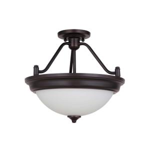 Pro Builder - Two Light Convertible Semi-Flush Mount