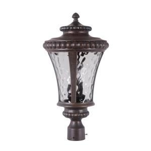 Prescott II - Three Light Post Mount in Traditional Style - 12 inches wide by 22.62 inches high