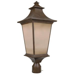 Argent - One Light Post in Transitional Style - 10 inches wide by 24.06 inches high