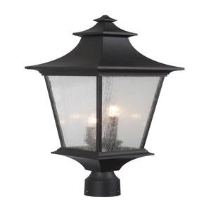 Argent II - Three Light Large Outdoor Post Mount in Transitional Style - 10 inches wide by 24.56 inches high