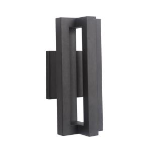 Kai 14 Inch Small Outdoor Wall Lantern  Iron/Tempered Glass Approved for Wet Locations
