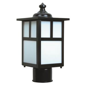 Mission - One Light Outdoor Post Mount in Transitional Style - 6 inches wide by 12 inches high