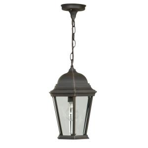 One Light Outdoor Medium Pendant in Contractor Style - 5.88 inches wide by 14.5 inches high