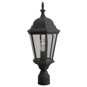 One Light Outdoor Medium Post Light in Contractor Style - 5.88 inches wide by 22 inches high