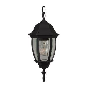 One Light Outdoor Small Pendant in Contractor Style - 9.5 inches wide by 14.8 inches high