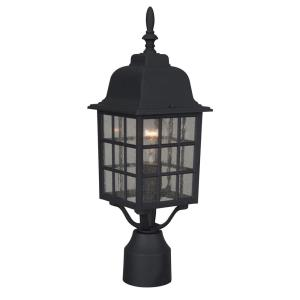 Grid Cage - One Outdoor Medium Post Light