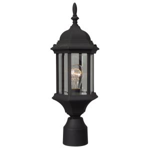 Cast Aluminum Glass Post Mount in Contractor Style - 6.5 inches wide by 18.13 inches high