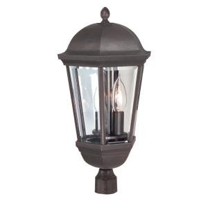 Britannia - Two Light Post Lamp in Traditional Style - 10 inches wide by 19.75 inches high