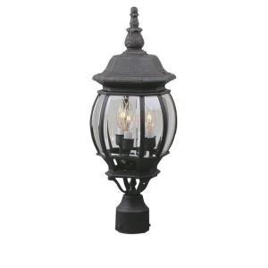 French Style - Three Outdoor Medium Post Light
