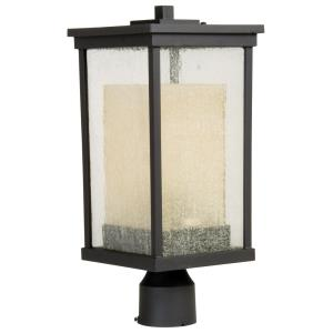 Riviera - One Light Outdoor Post Lantern in Modern Style - 8 inches wide by 18 inches high