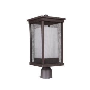 Riviera II - One Light Outdoor Post Lantern in Modern Style - 8 inches wide by 18 inches high