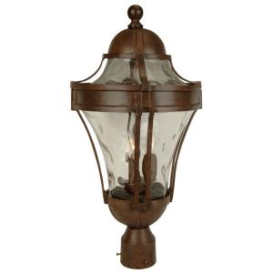Parish - Three Light Outdoor Large Post Mount in Traditional Style - 11 inches wide by 22.63 inches high
