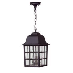 Grid Cage - Three Light Outdoor Large Pendant
