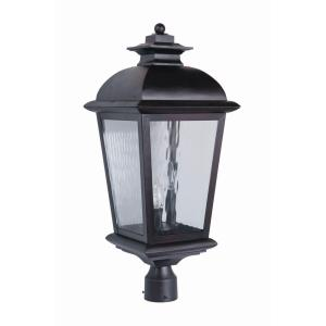 Branbury - Three Light Outdoor Large Post Mount in Traditional Style - 11 inches wide by 25.2 inches high