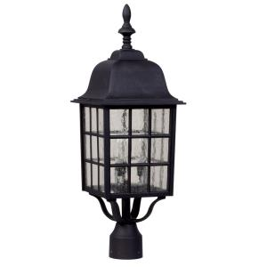 Grid Cage - Three Light Outdoor Large Post Mount in Contractor Style - 8.5 inches wide by 24 inches high
