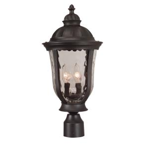 Frances - Three Light Outdoor Large Post Mount in Traditional Style - 12 inches wide by 24.12 inches high