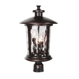 Summerhays - Three Light Outdoor Large Post Mount in Transitional Style - 12 inches wide by 17.25 inches high