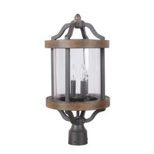 Ashwood - Two Light Outdoor Post Lantern in Traditional Style - 10.9 inches wide by 25.61 inches high